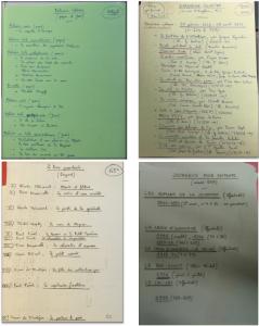 Exemples de fiches du catalogue provisoire de Jean (fig. 23, p. 81)